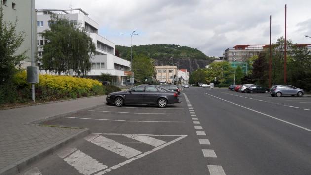 Placené parkování města na ulici Hradební 2